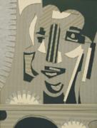 51x39 cm. Cartón y papel encolados